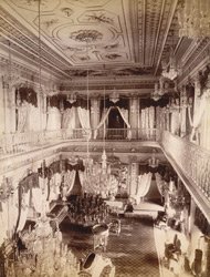 The Drawing Room of Chowmahela Palace, Hyderabad.
